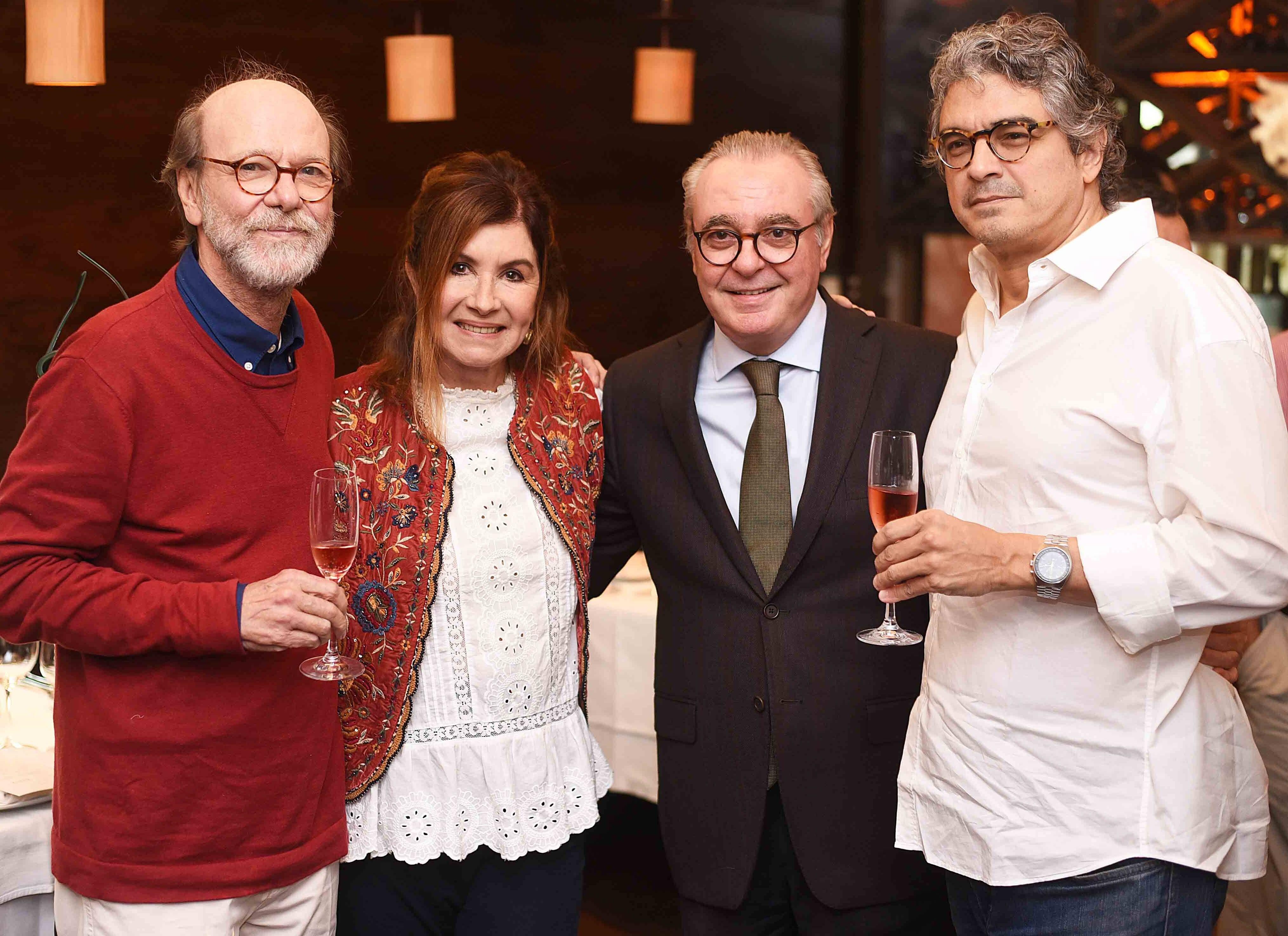 Chico Mascarenhas, Luciana Froes, Danio Braga e Pedro Mello e Souza /Foto: Ari Kaye
