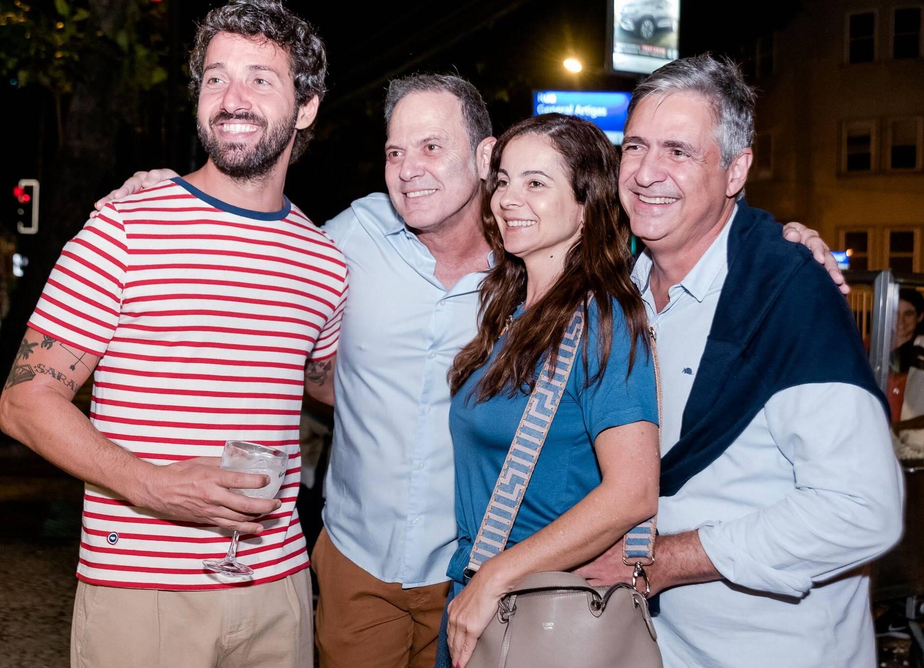 Hermés Galvão,  Aloizio de Abreu, Isabela Menezes e Toni Oliveira  /Foto: Renato Wrobel