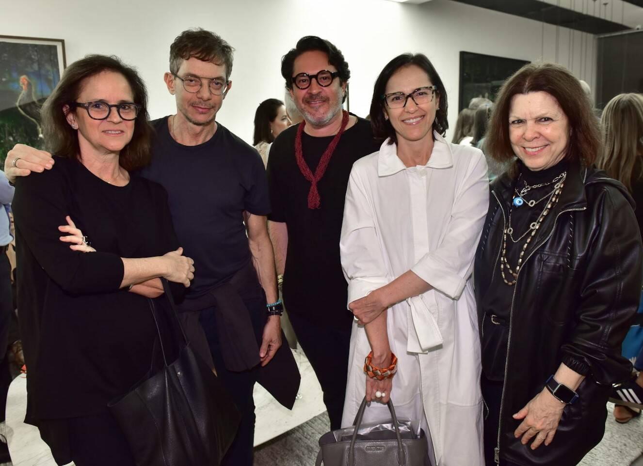 Patrícia Quentel, André Piva, Celso Rayol, Gisele Taranto e Vanda Klabin  em evento em 2019 /Foto: Arquivo site Lu Lacerda