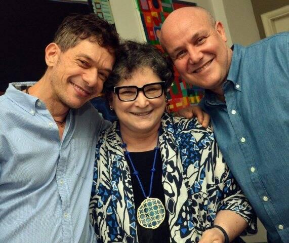 André Piva, Cora Ronai e Paulo Müller, em 2014 /Foto: Arquivo site Lu Lacerda