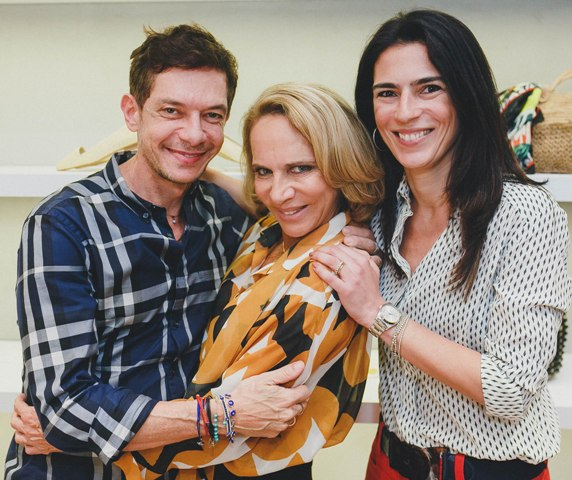 André Piva, Lenny Niemeyer e Vanessa Borges, em 2015 /Foto: Arquivo site Lu Lacerda