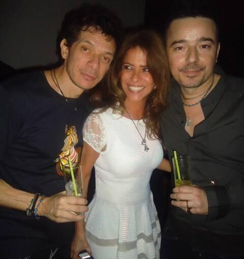 André Piva, Lou de Oliveira e Carlos Tufvesson, em 2011  /Foto: Arquivo site Lu Lacerda