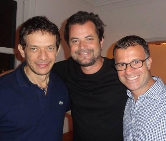 André Piva, Miguel Pinto Guimarães e Beto Figueiredo, em 2012