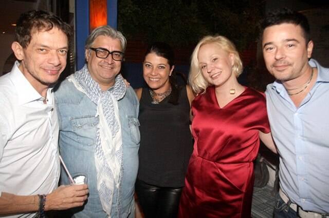 André Piva, Sergio Mattos, LíviaTorres, Erika Palomino e Carlos Tufvesson, em 2013 /Foto: Arquivo site Lu Lacerda