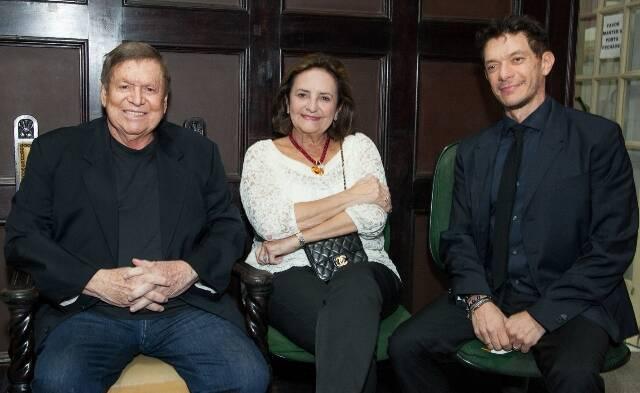 Boni, Lucinha Araújo e André Piva, em 2014 /Foto: Arquivo site Lu Lacerda