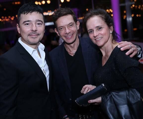 Carlos Tufvesson, André Piva e Patricia Quentel, em 2015 /Foto: Arquivo site Lu Lacerda