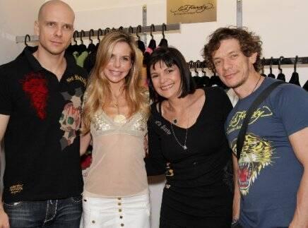 Fernando Scherer, Astrid Monteiro de Carvalho, Regina Lundgren e André Piva, em 2010   /Foto: Arquivo site Lu Lacerda