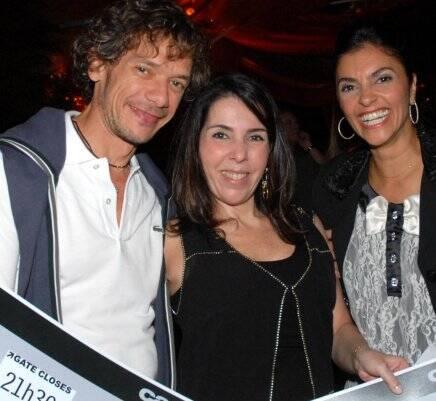 André Piva, Paola Ribeiro e Ana Cristina Villaça, em 2010  /Foto: Arquivo site Lu Lacerda