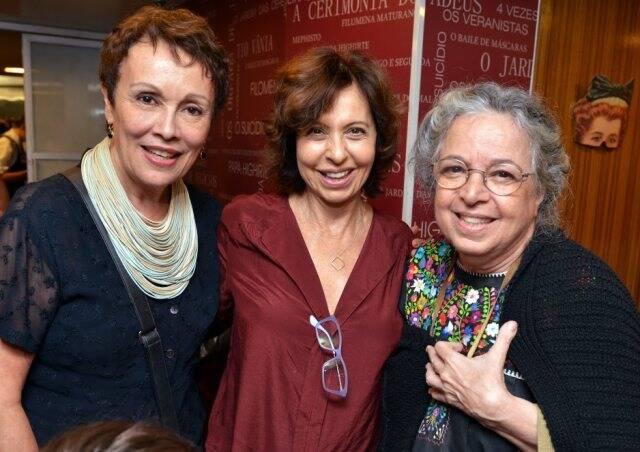 Analu Prestes, Stella Freitas e Camilla Amado, em  2016 /Foto: Arquivo site Lu Lacerda