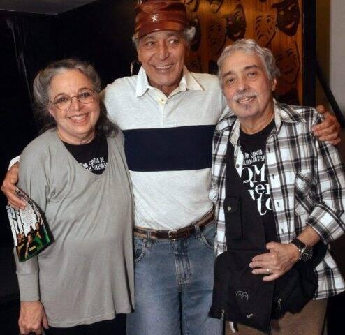 Camila Amado, Gracindo Jr. e Pedro Paulo Rangel, em 2015 /Foto: Arquivo site Lu Lacerda