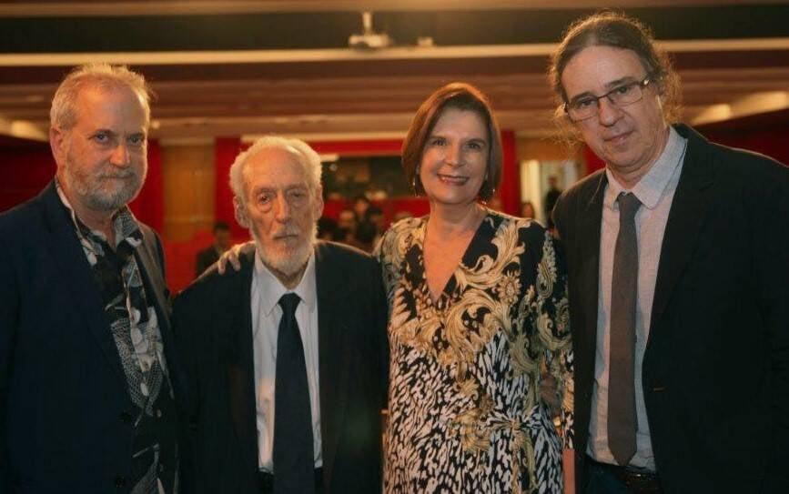 Leonel Kaz, Alberto da Costa e Silva, Maria Elizabeth Teixeira da Rocha e Geraldo Carneiro   /Foto: Felipe Valentim