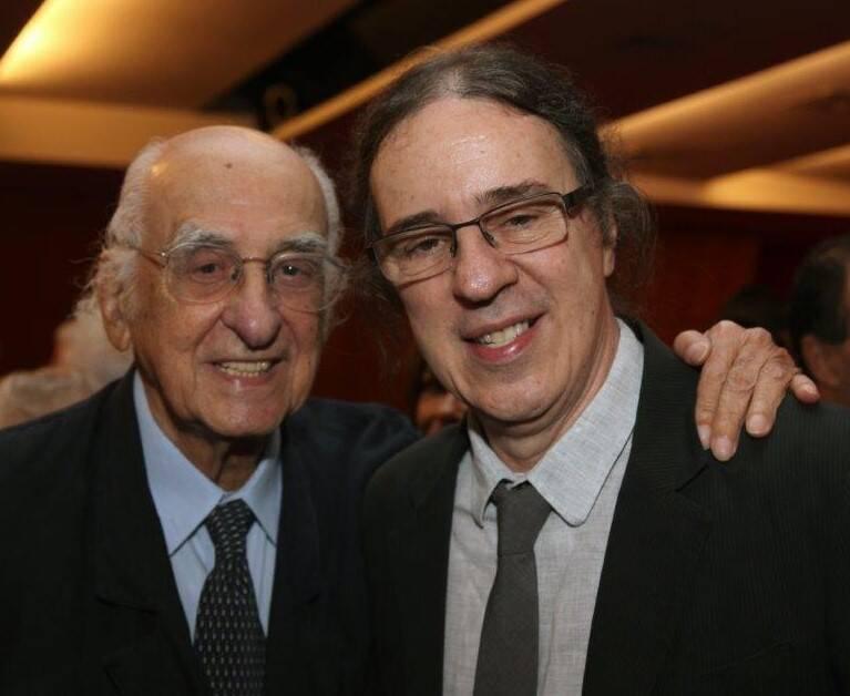 Zuenir Ventura e Geraldo Carneiro  /Foto: Felipe Valentim