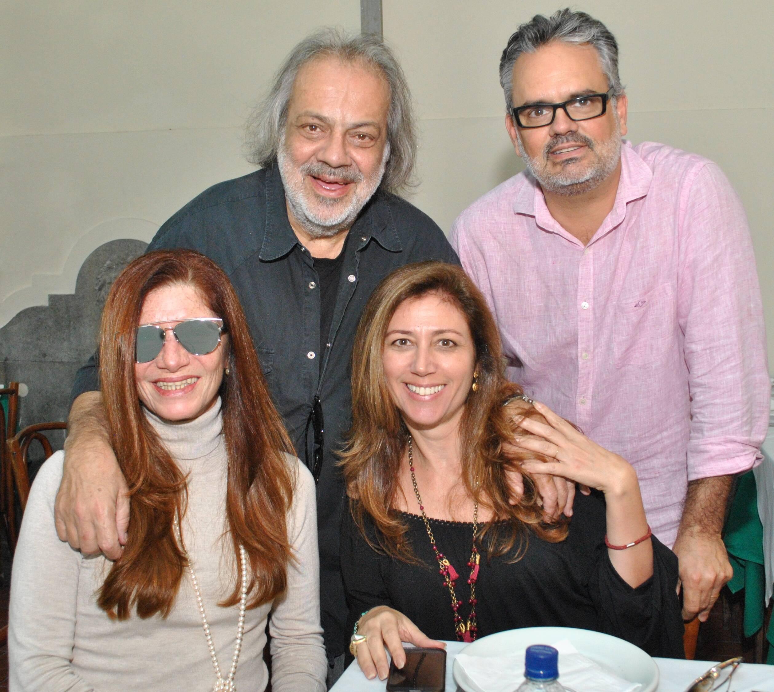 Antonio Guerreiro, Paulo Marcos, Teresa Freire e Luiza Prudente em 2014 /Foto: Arquivo site Lu Lacerda