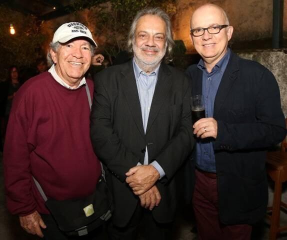 Evandro Teixeira, Antonio Guerreiro e Bruno Barreto em 2015 /Foto: Arquivo site Lu Lacerda