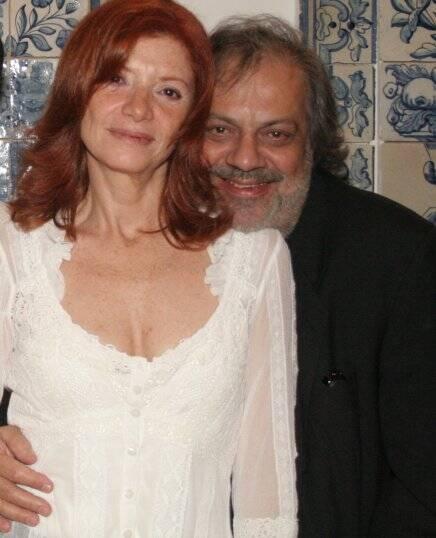 O casal Teresa Freire e Antonio Guerreiro em 2010 /Foto: Arquivo site Lu Lacerda