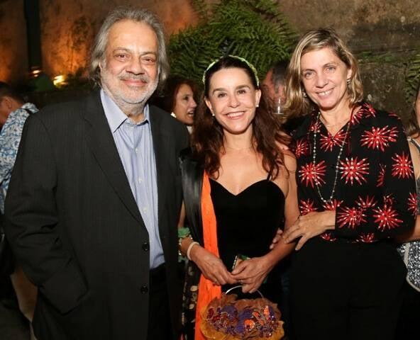 Antonio Guerreiro, Lucélia Santos e Carla Camurati em 2015 /Foto: Arquivo site Lu Lacerda