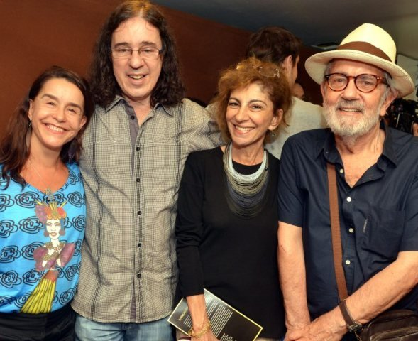 Lucélia Santos, Geraldo Carneiro, Marília Pêra (1943-2015) e Paulo José, em 2014  /Foto: Arquivo site Lu Lacerda