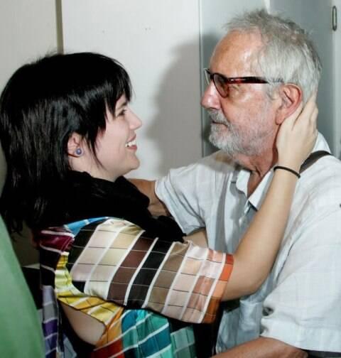 Natália Lage e Paulo José, em 2013  /Foto: Arquivo site Lu Lacerda