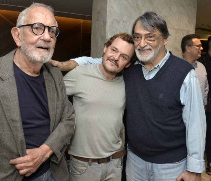 Paulo José, Matheus Nachtergaele e Walter Lima Jr., em 2018  /Foto: Arquivo site Lu Lacerda