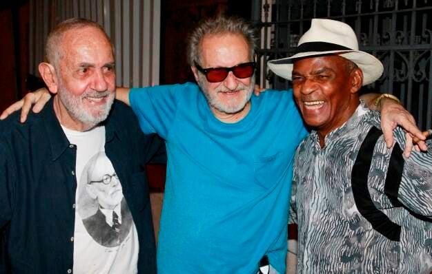 Paulo José, Ruy Guerra e Antonio Pitanga, em 2012  /Foto: Arquivo site Lu Lacerda