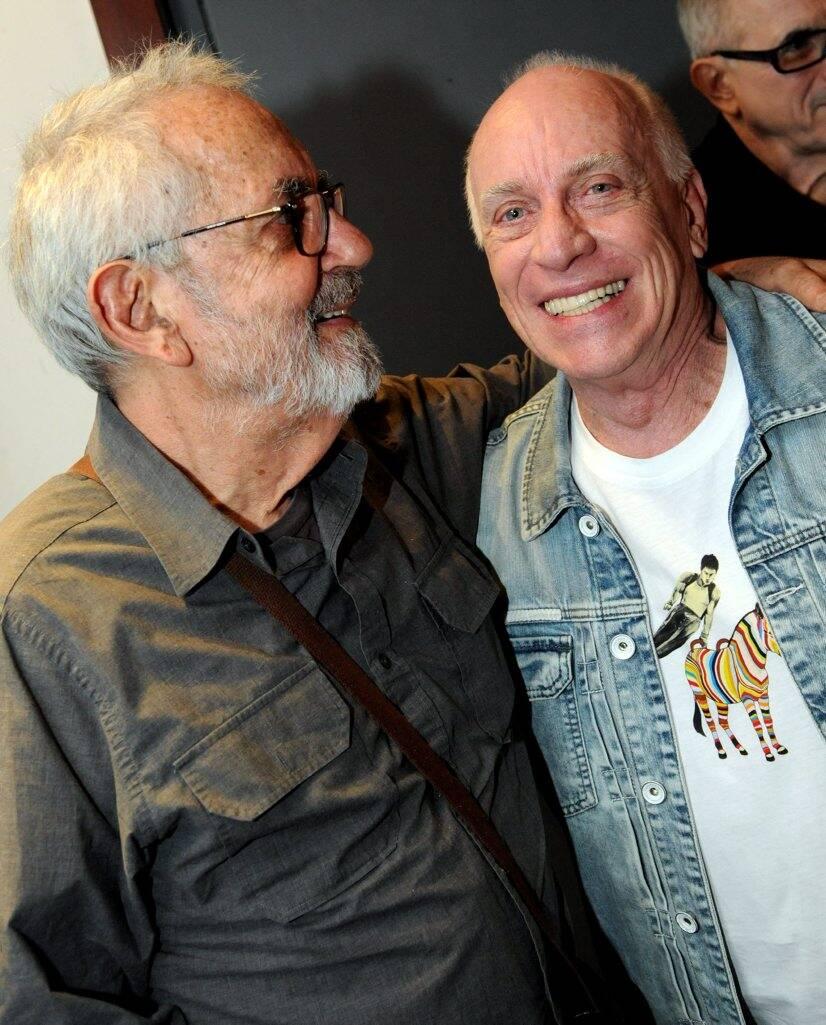 Paulo José e Ary Coslov , em 2012  /Foto: Arquivo site Lu Lacerda