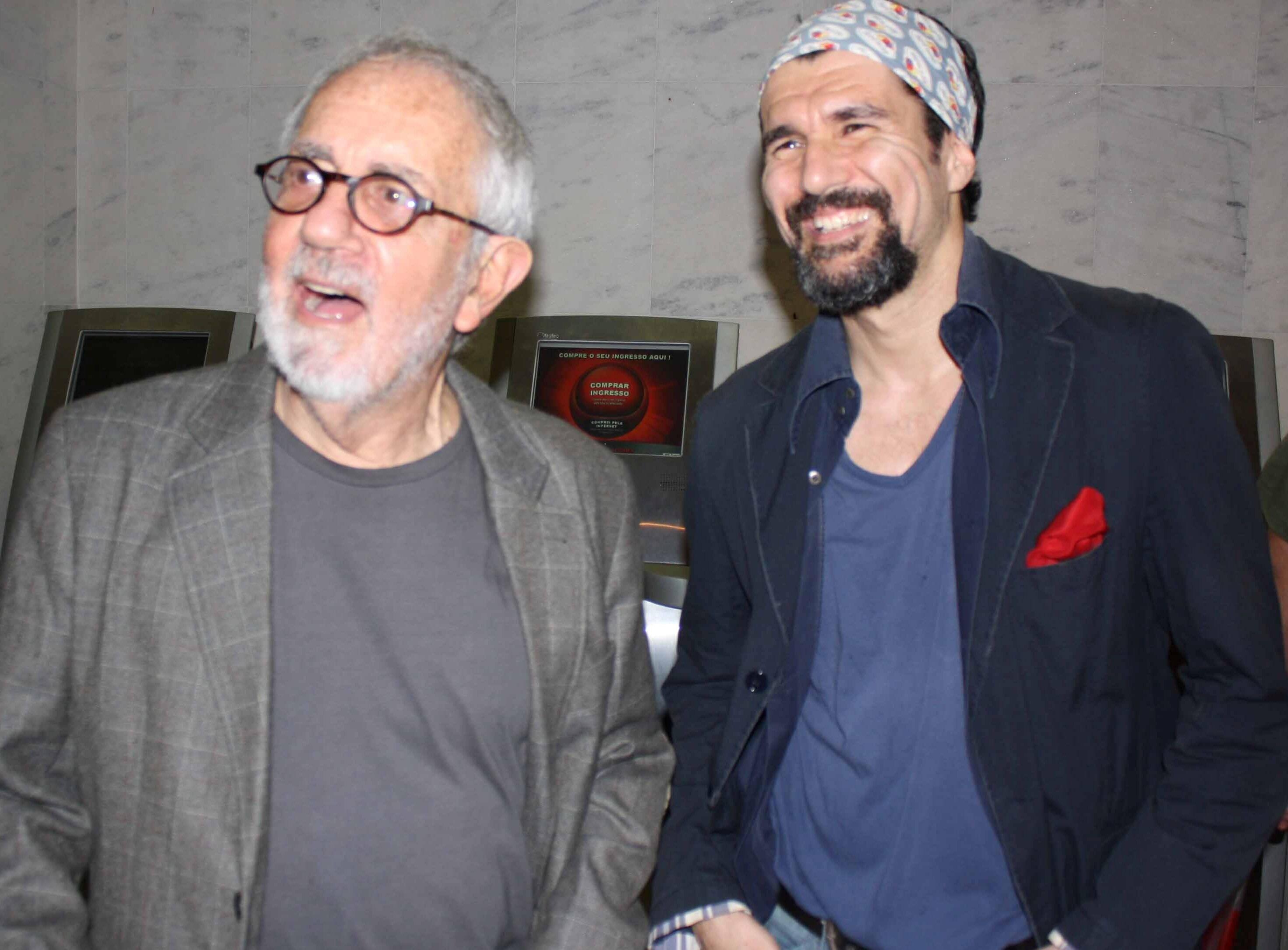Paulo José e Nicola Siri, em 2011  /Foto: Arquivo site Lu Lacerda