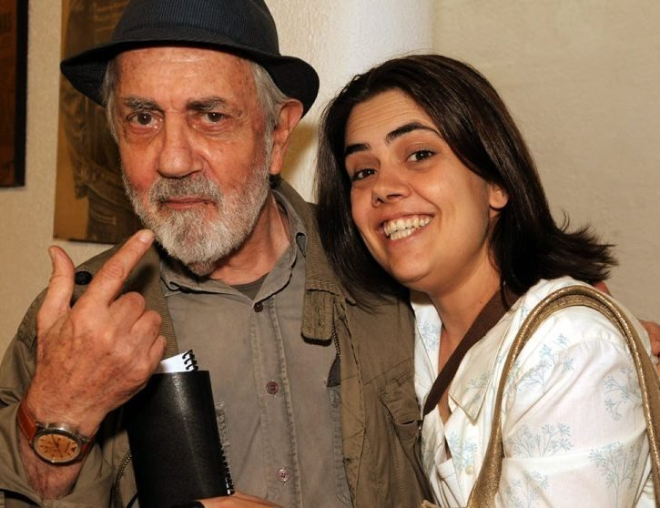 Paulo José com a filha Clara Kutner, em 2012  /Foto: Arquivo site Lu Lacerda
