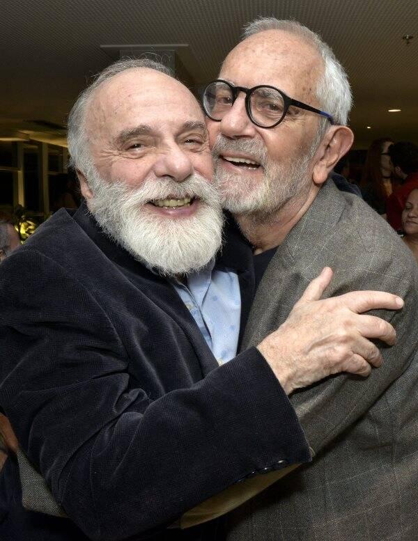 Renato Borghi e Paulo José , em 2018  /Foto: Arquivo site Lu Lacerda