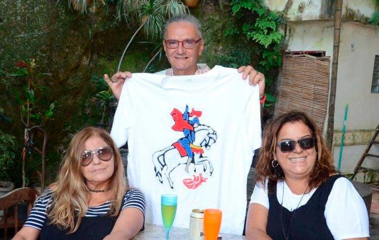 Denia Castor, Jorge Salomão e Denise Alves, em 2020 /Foto: Arquivo site Lu Lacerda