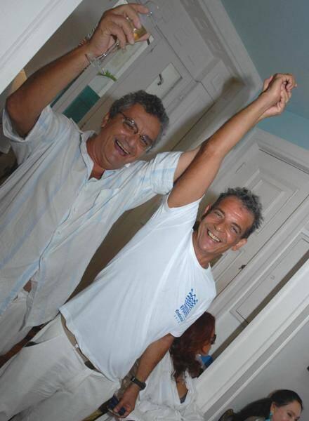 Jorge Salomão e o pintor Enéas Valle, em 2010 /Foto: Arquivo site Lu Lacerda
