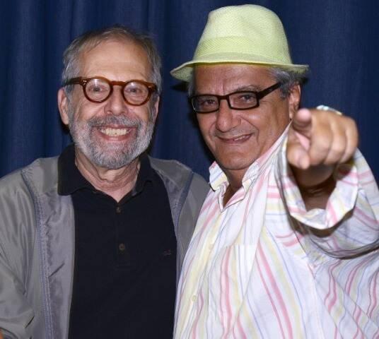 Luiz Áquila e Jorge Salomão, em 2014 /Foto: Arquivo site Lu Lacerda