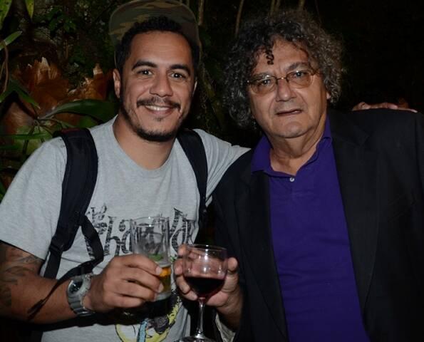 Marcelo D2 e Jorge Salomão, em 2012 /Foto: Arquivo site Lu Lacerda