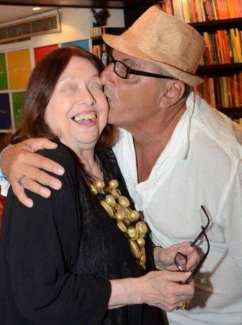Nélida Piñon e Jorge Salomão,  em 2014 /Foto: Arquivo site Lu Lacerda