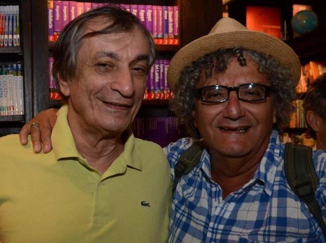 Os poetas  Antônio Cícero e Jorge Salomão, em 2015 /Foto: Arquivo site Lu Lacerda