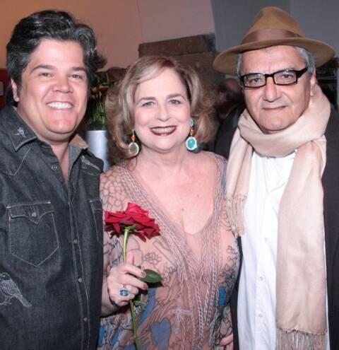 Pedro Molina, Hildegard Angel e Jorge Salomão, em 2014 /Foto: Arquivo site Lu Lacerda