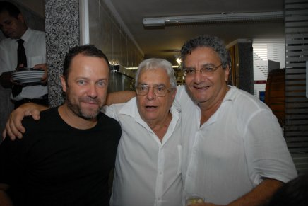 Vik Muniz, Gilberto Chateaubriand e Jorge Salomão, em 2010 /Foto: Arquivo site Lu Lacerda
