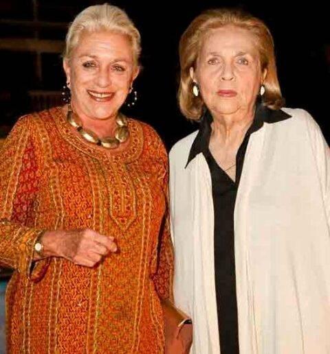 A boronesa Hélène de Ludinghausen com Glorinha Paranaguá em  2011 /Foto: Arquivo site Lu Lacerda