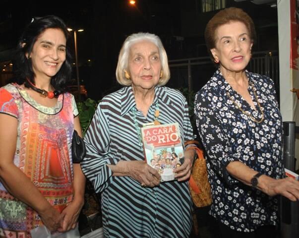 Katia Leite Barbosa, Glorinha Paranaguá e Dalal Achcar em 2015 /Foto: Arquivo site Lu Lacerda