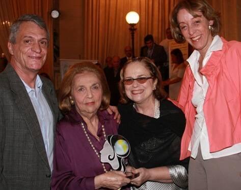 Luis Carlos Machado, Glorinha Paranaguá, Hildegard Angel e Celina Farias em 2011 /Foto: Arquivo site Lu Lacerda