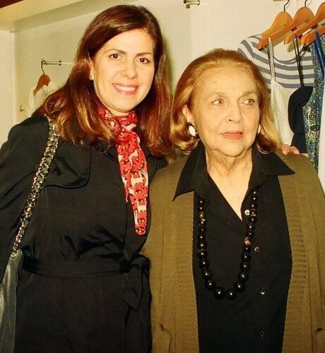 Naná com a sogra, Glorinha Paranaguá, em 2010 /Foto: Arquivo site Lu Lacerda