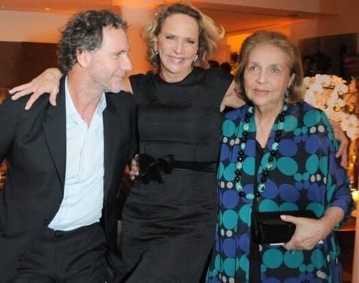 Oskar Metsavaht, Lenny Niemeyer e Glorinha Paranaguá em 2010 /Foto: Arquivo site Lu Lacerda