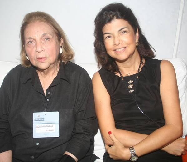 Glorinha Paranaguá com Viviane Grabowsky em 2011 /Foto: Arquivo site Lu Lacerda