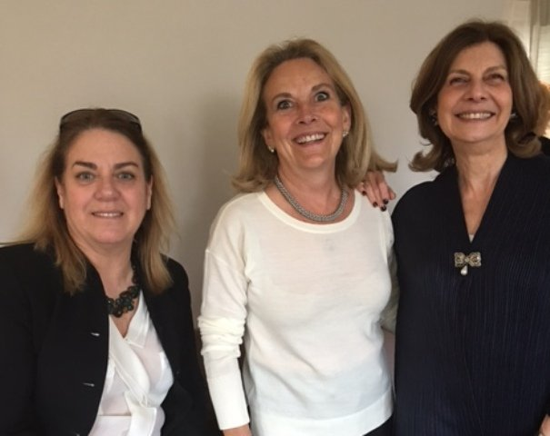 Silvia Bustamante Sá Lisandre, Isolda Fraissignes e Ana Lúcia Albin
