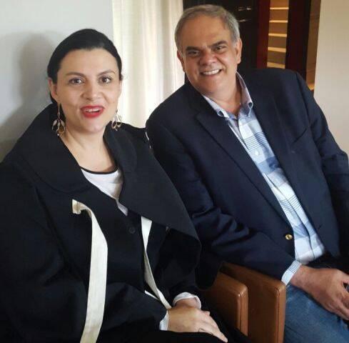 Helen Kupfer- Haas e Silvio Bentes