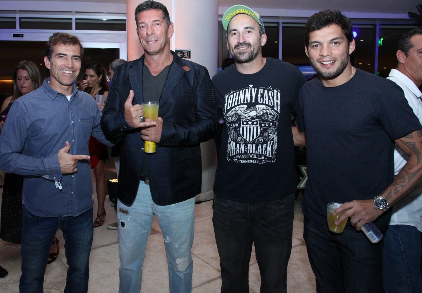 Carlos Burle, Julio Pignatari e Gui Padua e Miltinho /Foto: Vera Donato