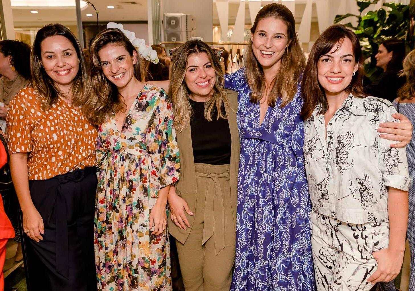 Amanda Alves, Marcela Jobim, Pauline Carvalho, Nina Spinardi e Fernanda Barreto /Foto: Bruno Ryfer