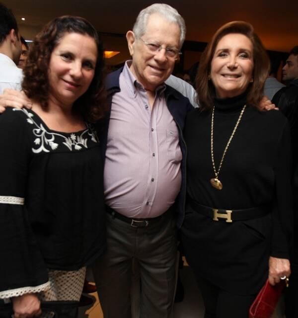 Andreia, Arnaldo e Ruth Niskier