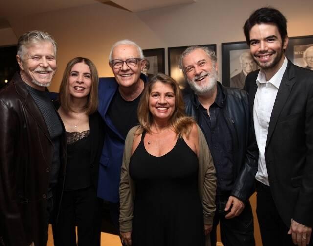 Miguel Falabella,  Liege Monteiro, Ney Latorraca, Tássia Camargo, Edi Botelho e Luiz Fernando Coutinho