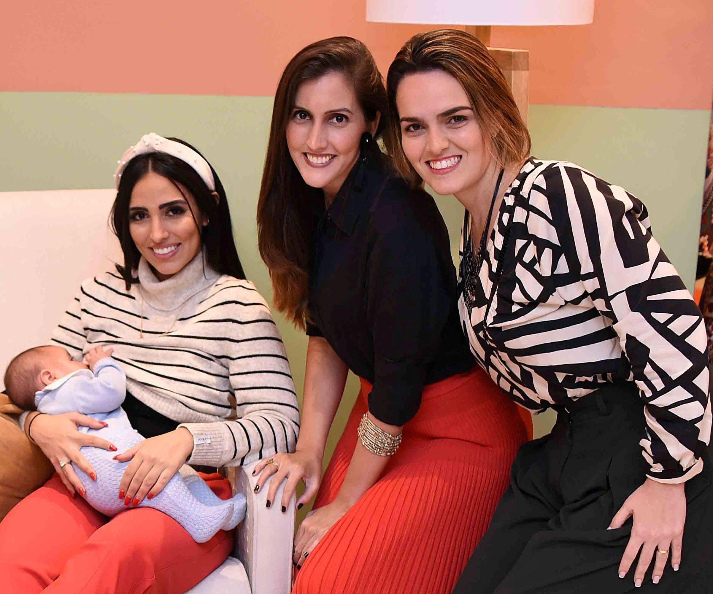 Zion com a Mãe Jade Sebba, Luana Bombiere e Dafne Sampaio /Foto: Ari Kaye