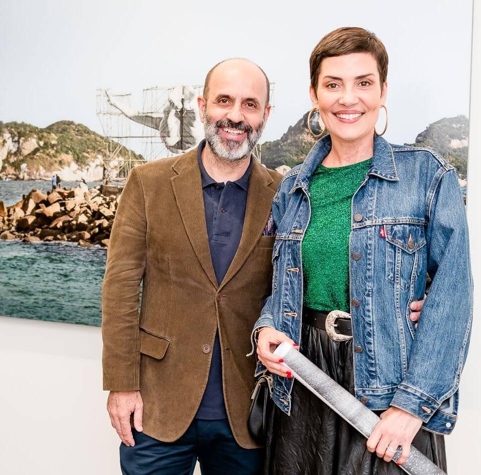 Claudio Gomes e Cristina Cordula  /Foto: Bruno Ryfer
